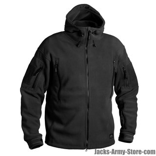 Helikon Tex Patriot Fleece Jacke Jacket Schwarz Black Outdoor 390g/m2 BL-PAT-HF-
