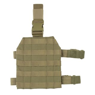 Condor Outdoor Drop Leg Platform Beinplattform Molle Panel Coyote Braun