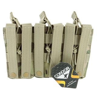 Condor Outdoor Open Top Triple M4 Mag Pouch Molle Magazintasche Multicam - AR15 M16