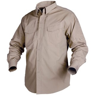 Helikon Tex Defender Long Sleeve Shirt Khaki langarm Hemd Canvas Stoff Tactical