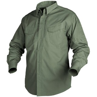 Helikon Tex Defender Long Sleeve Shirt Olive Green langarm Hemd Canvas Stoff