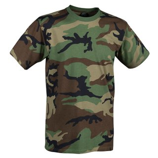 Helikon Tex US T-Shirt Army - Military Style 100% Baumwolle - Woodland
