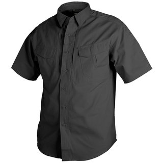 Helikon Tex Defender Short Sleeve Shirt Schwarz Black kurzarm Hemd Canvas Stoff