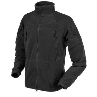 Helikon Tex Stratus Heavy Fleece Jacke Schwarz Outdoor - 320g/m2 Small