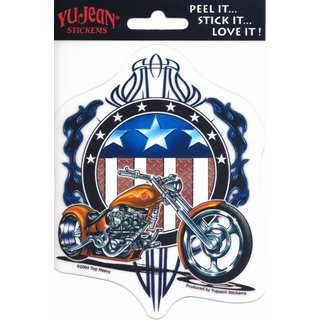 Aufkleber - Top Heavy - American Chopper10,1x12,7 cm Yujean Sticker Biker Harly