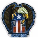 Aufkleber One Nation Sticker USA Eagle 12,3x13 cm Yujean...