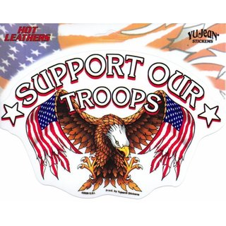 Aufkleber Support Our Troops Biker 17,2x11,1 cm Yujean - Military Army Sticker